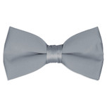 Satin Silver Bowtie