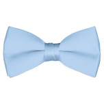 Satin Light Blue Bowtie
