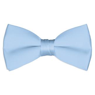 Satin Light Blue Bowtie