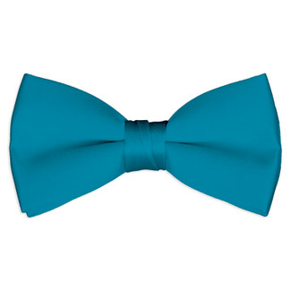 Satin Carribian Blue Bowtie