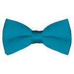 Satin Carribian Blue Bowtie