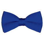 Satin Royal Blue Bowtie
