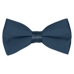 Satin Victorian Blue Bowtie
