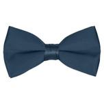 Satin Victorian Blue Bowtie