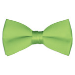 Satin Lime Green Bowtie