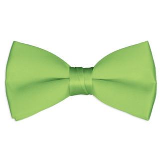 Satin Lime Green Bowtie