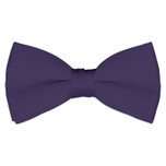 Satin Lapis Purple Bowtie