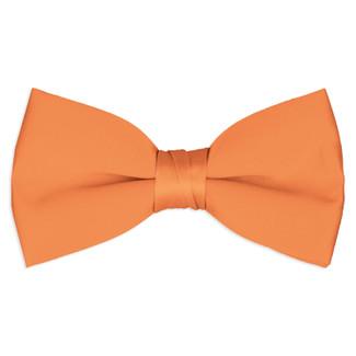 Satin Tangerine Bowtie