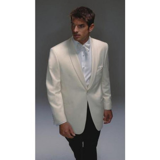 Hardwick Men's Ivory Wool Dinner Jacket
