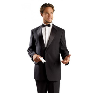 Black One Button Tuxedo