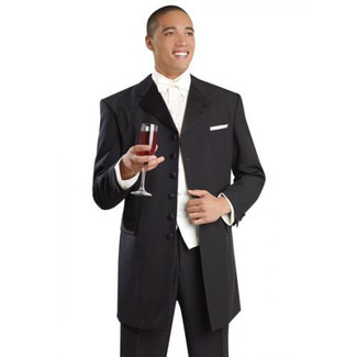 Mens Black 6 Button Tuxedo