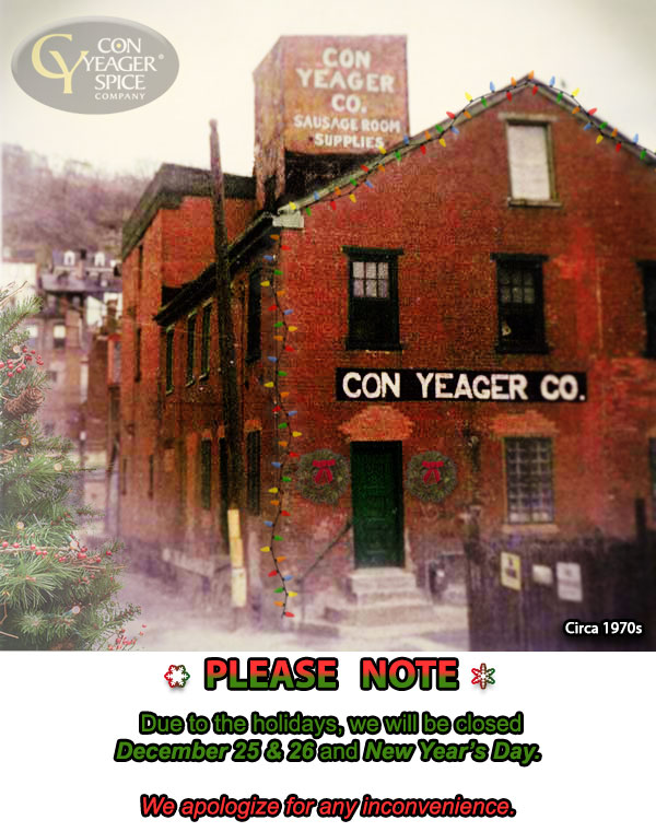 Welcome to Con Yeager Spice Company!