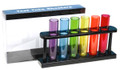 Acetate Test Tube Shooters Set of 6 Multicolored Shot Glasses