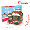 Christmas Accessory Shop 46 Piece 3D Puzzle with LED Lights
