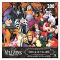 Disney CIRCLE OF VILLAINS 200 Piece Round Jigsaw Puzzle