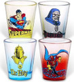DC Comics Villains vs Superman 4 pack Shot Glasses
