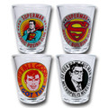 DC Comics Originals Superman Clark Kent It's All Good Shot Glasses Set of 4