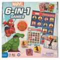 Marvel Avengers 6 In 1 Games Bingo Go Fish Crazy 8's Four In a Row  Dominoes and Matching