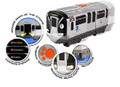 MTA New York City Motorized Subway Train Car with LIghts and Sound
