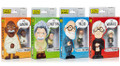 "Little Giants Genius' Four Pack Set Freud Gandhi Warhol Einstein 3"" Figures"