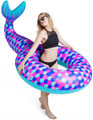 "Giant MERMAID TAIL 74"" HUGE Pool Float Over 6' Long"
