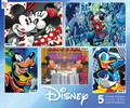 Disney Mickey Mouse Club House Set of  5 Jigsaw Puzzles From 300 to 750 pieces
