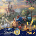 Beauty and The Beast Falling In Love Thomas Kinkade Collection 750 Piece Jigsaw Puzzle