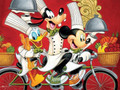 DISNEY Chef Mickey Donald Goofy Together Time 400 Piece Jigsaw Puzzle
