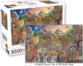 "A MAGICAL MYSTERY TOUR OF 100 BEATLES SONGS 3000 Piece Jigsaw Puzzle 32"" X 45"""