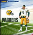Rare NFL Series 3 RE-PLAYS Brett Farve Sideline Green Bay Packers Action Figure