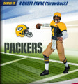 Rare NFL Series 3 RE-PLAYS Brett Farve Throwback Green Bay Packers Action Figure