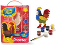Works of Ahhh ... Create your Own Rooster Wood Painting Kit