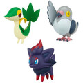 Pokemon Black & White Series Mutipack Figures Snivy Zorua and Pidove