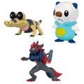 Pokemon Black & White Series Multipack Figures Zoroark Sandile and Oshawott