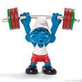 NEW Weight Lifter Sports Smurf Figurine - Schleich