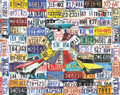 LICENSE PLATES 1000 Piece Collectible Jigsaw Puzzle