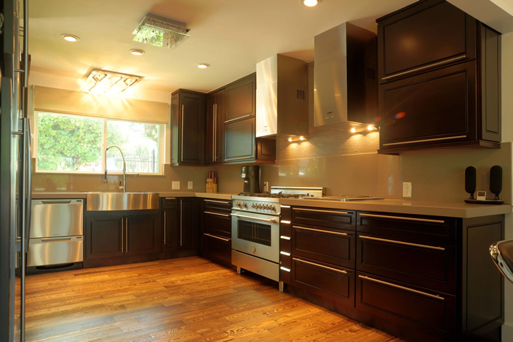 Espresso Maple Kitchen Cabinet Construction