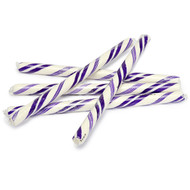 Circus Candy Sticks Purple and White 12 count