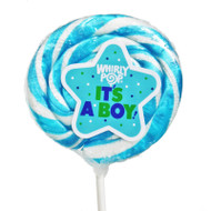 "Whirly Lollipops 3"" Its a Boy 60ct CASE"