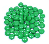 Chocolate Gems 15 Pound CASE - Kelly Green
