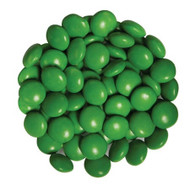 Chocolate Gems 15 Pound CASE- Dark Green