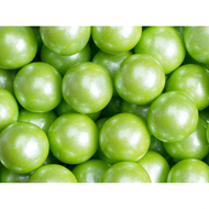 Gumballs Gum Balls Shimmer Pearl Lime Green 12 Pounds Case