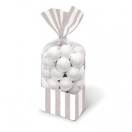 Candy Favor Bags 10 ct Silver