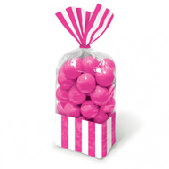 Candy Favor Bags 10 ct Bright Pink