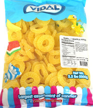 Gummi Pineapple Rings 26.4 lbs CASE