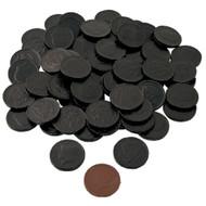 Chocolate Coins Black 6 Pound (lb) CASE