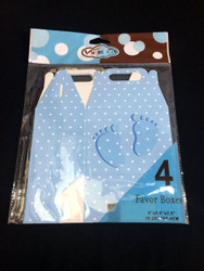 Blue Favor Box Baby Feet 4 ct.