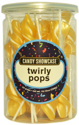 Twirly Lollipops Gold 288 Pops Case