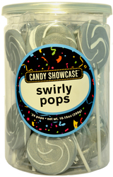 Swirly Lollipops Silver 24 Pops
