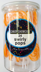 Swirly Lollipops Orange 288 Pops Case